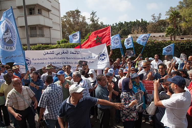 protesta sindical prensa