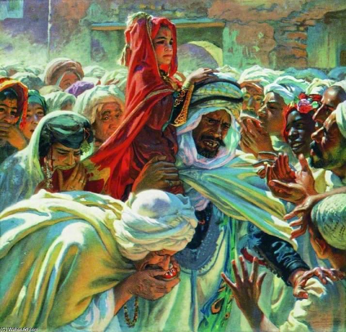 pintura 'El hijo de una santa M'rabeth'  de Etienne Dinet