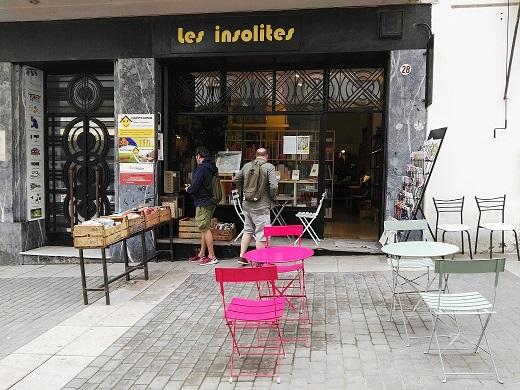 Fachada Librería 'Les Insolites' de Tánger