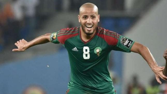 Karim El Ahmadi con la camiseta de Marruecos