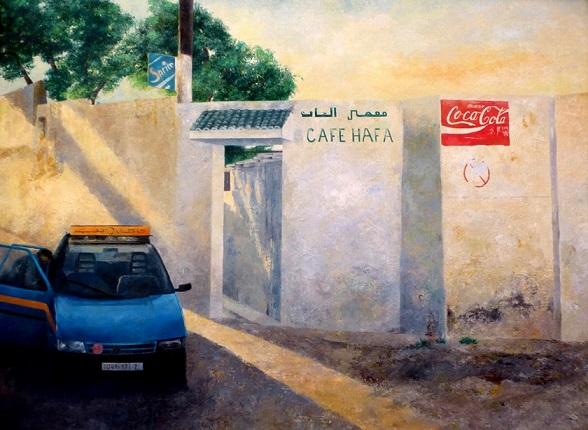 cuadro Consuelo Hernández Taxi en la entrada del Hafa I