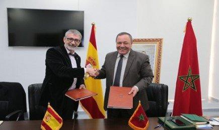 firma convenio rector de la UCA, Francisco Piniella con Mohamed Radi