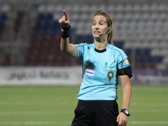 Bouchra Karboubi durante el partido