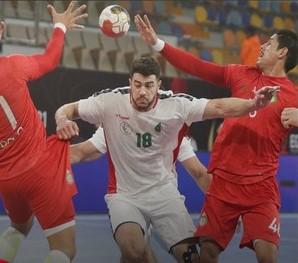 jugada partido balonmano Marruecos-Argelia