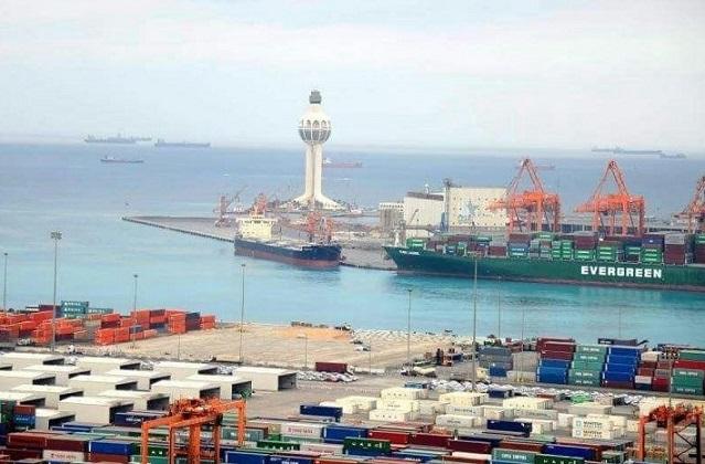 Vista del puerto de Yeda, Arabia Saudí