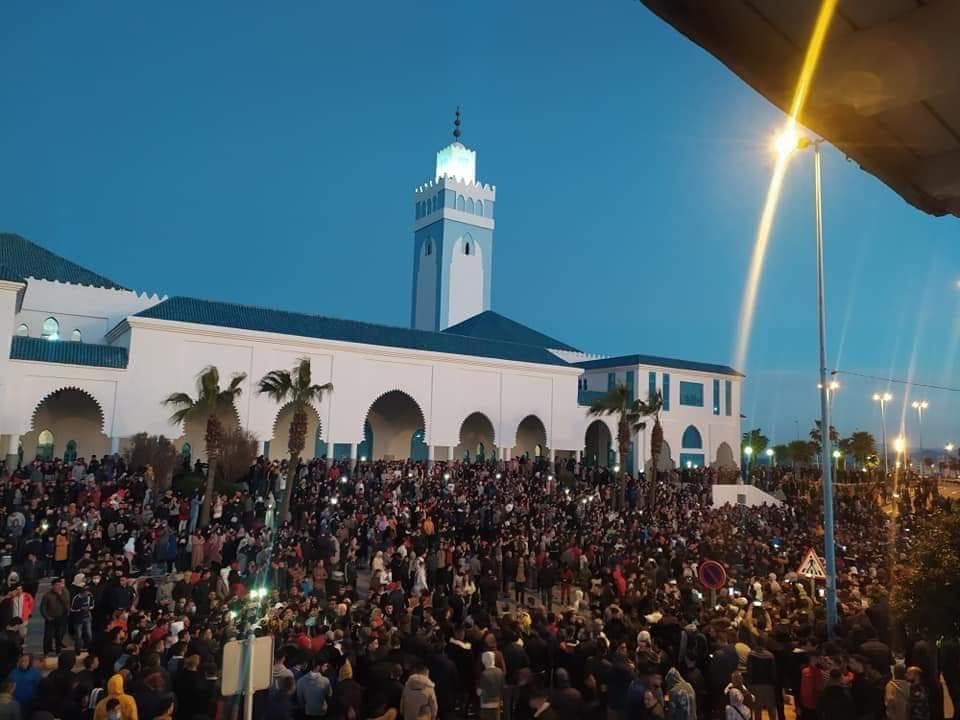 concentración de protesta en castillejos-fnideq