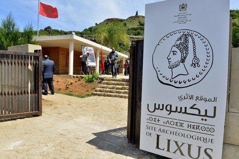 entrada complejo arqueológico de Lixus, Larache