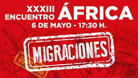 cartel encuentro Africa y premio migraciones a Tánger