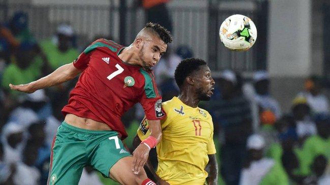 En Nesyri con la selección marroquí