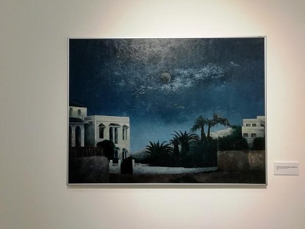 Pintura 'Constelación sobre la zona del Marshan' de Consuelo Hernández