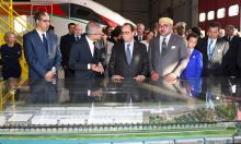 Rey Mohammed VI  Hollande TGV