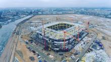 Estadio Kaliningrado en obras