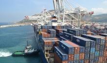 Vista puerto Tánger Med