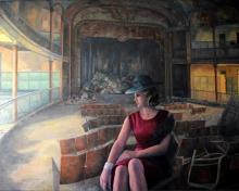 pintura Barbara Hutton en el gran teatro Cervantes de Tánger