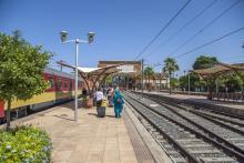 estación tren en Marruecos