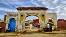 Puerta entrada zoco Al Aroui-Monte Arruit
