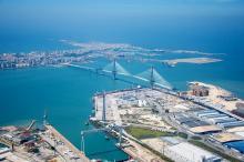 vista puerto Cádiz