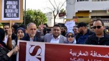 protestas periodistas marroquíes contra la sentencia
