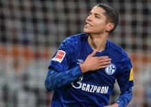 Amine Harit con la camiseta del Schalke04