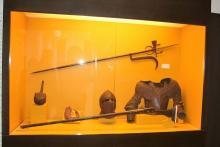 expositor en el Museo de la Kasbah de Tánger