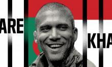cartel campaña pidiendo libertad periodista Khaled Drareni