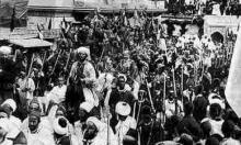 Cortejo presencia kaiser Guillermo II en Tánger