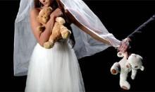 imagen alegórica novia menor que se casa