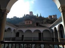 Vista de la Alhambra desde el Museo Arqueológico