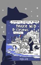 dibujo alusivo de Patrick Pinter, espías en Tánger
