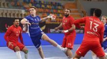 jugada partido balonmano Marruecos-Islandia