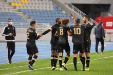 Jugadores del MAT Tetuán celebran un gol