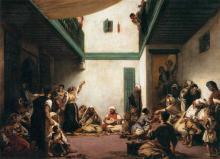 cuadro de Delacroix, 'Boda judía en Marruecos' realizada en Tánger