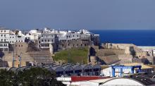 Vista de Tánger y su puerto
