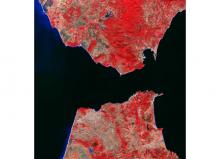 Foto satélite del Estrecho de Gibraltar