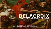 cartel en francés exposición Delacroix en Rabat